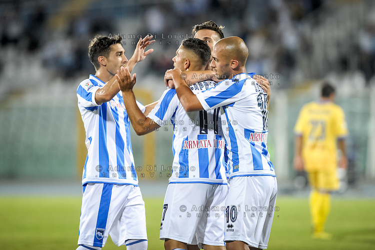 Valerio Verre (PESCARA) after the second goal during the Italian Cup - TIM CUP -match between Pescara vs Frosinone, on August 13, 2016. Photo: Adamo Di Loreto/BuenaVista*photo