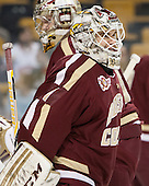Brian Billett (BC - 1) - The Boston College Eagles defeated the Boston University Terriers 3-1 (EN) in their opening round game of the 2014 Beanpot on Monday, February 3, 2014, at TD Garden in Boston, Massachusetts.