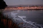 Santa Cruz at dusk,  Santa Cruz Muni Wharf
