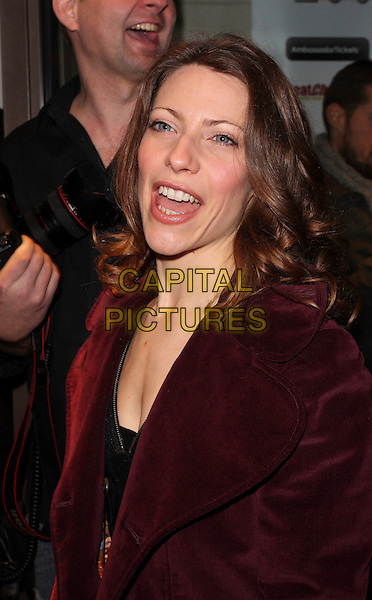 ELENA ROGER .Whatsonstage Theatregoers Choice Awards at the Prince of Wales Theatre, London, England, February 15th 2009..portrait headshot mouth open funny maroon burgundy jacket coat .CAP/ROS.©Steve Ross/Capital Pictures