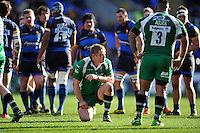 Tom Court of London Irish takes a breather during a break in play. Aviva Premiership match, between London Irish and Worcester Warriors on February 7, 2016 at the Madejski Stadium in Reading, England. Photo by: Patrick Khachfe / JMP