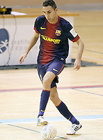 FC Barcelona Alusport's Aicardo during Spanish National Futsal League match.November 24,2012. (ALTERPHOTOS/Acero) /NortePhoto