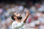 Daniel Carvajal Ramos of Real Madrid reacts during the La Liga match between Real Madrid and Levante UD at the Estadio Santiago Bernabeu on 09 September 2017 in Madrid, Spain. Photo by Diego Gonzalez / Power Sport Images