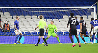 4th February 2020; Cardiff City Stadium, Cardiff, Glamorgan, Wales; English FA Cup Football, Cardiff City versus Reading; Andy Rinomhota of Reading shoots to score the equalizer making it 2-2 in the 79th minute
