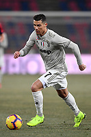 Cristiano Ronaldo of Juventus in action during the Italy Cup 2018/2019 football match between Bologna and Juventus at stadio Renato Dall'Ara, Bologna, January 12, 2019 <br />  Foto Andrea Staccioli / Insidefoto