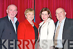 IN GOOD FORM: John Egan, Chris Moriarty, Julie Egan and Gene Moriarty enjoying the Kilcummin GAA Club Social in the Dromhall Hotel, Killarney, last Friday night..