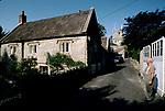 Pilton village church of St John the Baptist in background   1980s UK