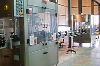 Bottling line, imported from Italy Bodega Del Anelo Winery, also called Finca Roja, Anelo Region, Neuquen, Patagonia, Argentina, South America