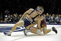 STATE COLLEGE, PA - JANUARY 25: Jake Short of the Minnesota Golden Gophers and Zack Beitz of the Penn State Nittany Lions during their match on January 25, 2015 at Recreation Hall on the campus of Penn State University in State College, Pennsylvania. Minnesota won 17-16. (Photo by Hunter Martin/Getty Images) *** Local Caption *** Jake Short;Zack Beitz