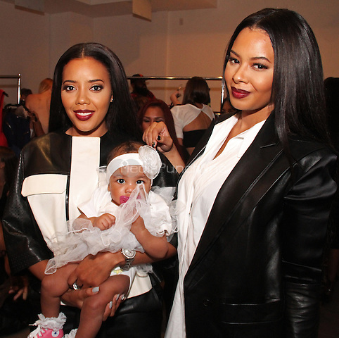 NEW YORK, NY - SEPTEMBER 10, 2014<br /> Angela &amp; Vanessa Simmons &amp; baby Ava attend the Back To Basics Runway Show at Style 360 September 9, 2014 in New York City.<br /> &copy;Walik Goshorn/MediaPunch