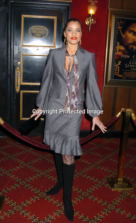 "Michael Michele..at the New York Premiere of "" The Last Samurai""  on December 2, 2003 at the Ziegfeld Theatre.                           Photo by Robin Platzer, Twin Images"
