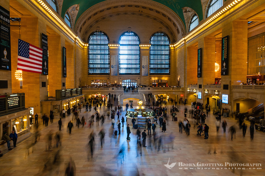 US, New York City. Interior Grand Central Station, the Main Concourse.