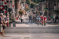peloton railroad crossing<br /> <br /> 59th Grand Prix de Wallonie 2018 <br /> 1 Day Race from Blegny to Citadelle de Namur (BEL / 206km)