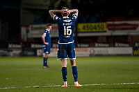 3rd March 2020; Dens Park, Dundee, Scotland; Scottish Championship Football, Dundee FC versus Alloa Athletic; Christie Elliott of Dundee holds his head in dejection at the end of the match
