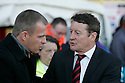 Stevenage manager Gary Smith and Sheffield United manager Danny Wilson. - Stevenage v Sheffield United - npower League 1 Play-off semi-final 1st leg - Lamex Stadium, Stevenage  - 11th May, 2012. © Kevin Coleman 2012