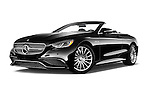 Stock pictures of low aggressive front three quarter view of 2017 Mercedes Benz S-Class S65-AMG 2 Door Convertible Low Aggressive