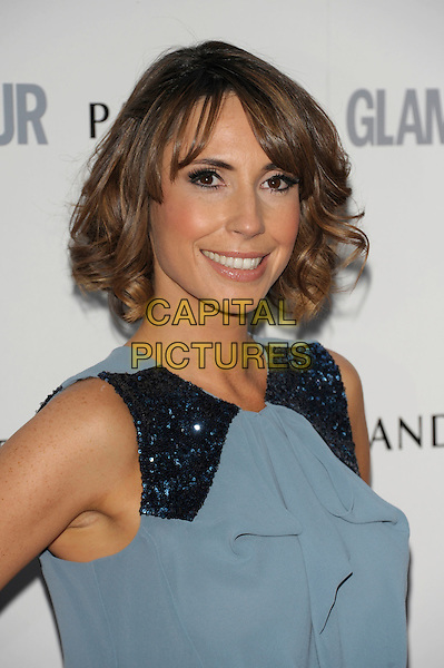 Alex Jones .Glamour Women Of The Year Awards held at Berkeley Square Gardens, London, England..June 7th 2011..inside arrivals portrait headshot smiling blue sleeveless sequined sequin .CAP/PL.©Phil Loftus/Capital Pictures.