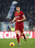 Football, Serie A: AS Roma - S.S. Lazio, Olympic stadium, Rome, January 26, 2020. <br /> Roma's captain Edin Dzeko in action during the Italian Serie A football match between Roma and Lazio at Olympic stadium in Rome, on January,  26, 2020. <br /> UPDATE IMAGES PRESS/Isabella Bonotto