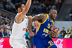 Real Madrid Gustavo Ayon and Khimki Moscow James Anderson during Turkish Airlines Euroleague match between Real Madrid and Khimki Moscow at Wizink Center in Madrid, Spain. November 02, 2017. (ALTERPHOTOS/Borja B.Hojas)