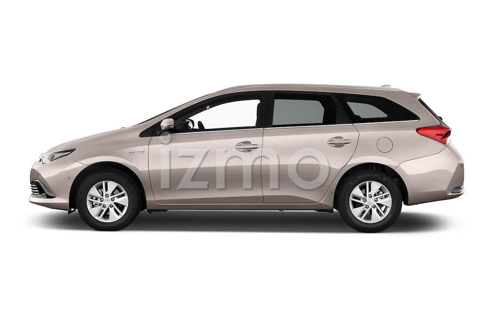 Car Driver side profile view of a 2015 Toyota Auris Touring Sports Business Plus 5 Door Wagon Side View