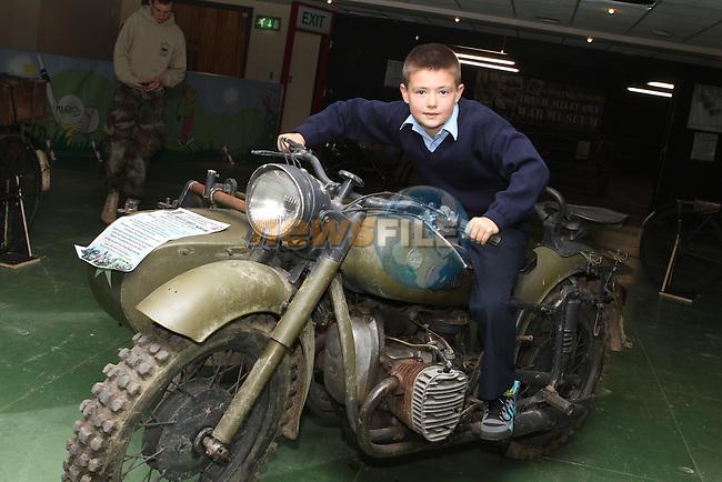 John Prendergast at the War Museum in Funtasia...(Photo Jenny Matthews/www.newsfile.ie)