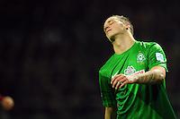 FUSSBALL   1. BUNDESLIGA    SAISON 2012/2013    17. Spieltag   SV Werder Bremen - 1. FC Nuernberg                     16.12.2012 Marko Arnautovic (SV Werder Bremen) ist entteuscht