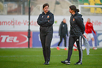 20190304 - LARNACA , CYPRUS : Hungarian head coach Marko Edina (left) pictured during a women's soccer game between Mexico and Hungary , on Monday 4 March 2019 at the AEK Arena in Larnaca , Cyprus . This is the third game in group B for both teams during the Cyprus Womens Cup 2019 , a prestigious women soccer tournament as a preparation on the FIFA Women's World Cup 2019 in France . PHOTO SPORTPIX.BE | STIJN AUDOOREN