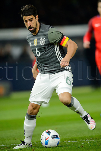 26.03.2016. Olympiastadion Berlin, Berlin, Germany.  Germany's Sami Khedira in action during the international friendly soccer match between Germany and England at the Olympiastadion