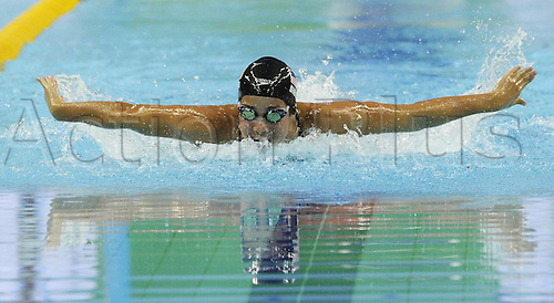 16 08 2011 Shenzhen, China.  Madeline Dirado of The United States Powers Through the Water during for womens 400m Individual Medley Final of Swimming AT The 26th Summer Universiade in Shenzhen A City of South China s Guangdong Province  Dirado claimed The Gold of The Event with A Time of 4 40 79