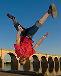 April 10, 2010 - Tim Lipscomb does a flip along the Susquehanna River in Harrisburg, PA.