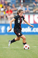 14 MAY 2011: USA Women's National Team midfielder Heather O'Reilly (9) during the International Friendly soccer match between Japan WNT vs USA WNT at Crew Stadium in Columbus, Ohio.
