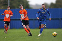 Tom Newman of Soham and Reece Tranter of Romford during Romford vs Soham Town Rangers, BetVictor League North Division Football at the Brentwood Centre on 2nd November 2019