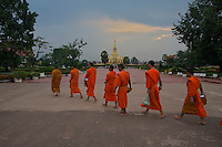 Monks in Vientiane, Laos