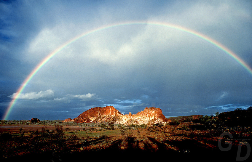 Images from the Book Journey Through Colour and Time - A very rare Rainbow over Rainbow Valley, Northern Territory, Australia