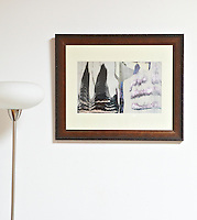 "Ed Moses, Wosk, 24"" x 19.5"",  Framed Digital Print"