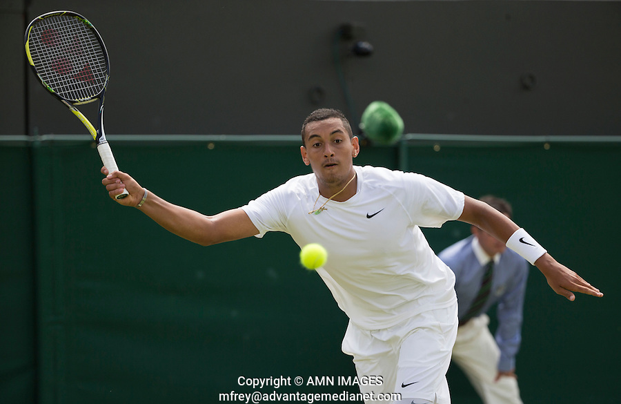 NICK KYRGIOS (AUS)<br /> <br /> The Championships Wimbledon 2014 - The All England Lawn Tennis Club -  London - UK -  ATP - ITF - WTA-2014  - Grand Slam - Great Britain -  26th June 2014. <br /> <br /> &copy; AMN IMAGES