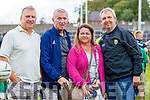 Denis Harris (Listowel), Noel and Ivan O'Connell (New York and Cahersiveen) with Kerry Manager Peter Keane, enjoying the Kerry Team Open Day Meet and Greet, at Fitzgerald Stadium, Killarney on Saturday last.