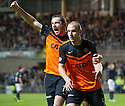 Dundee Utd's Jaroslaw Fojut celebrates after he scores United's late winner.