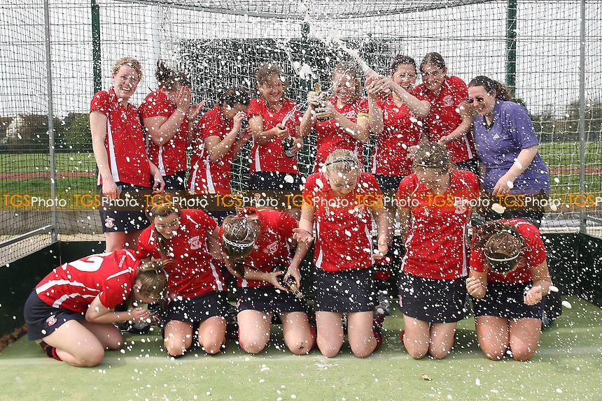 Havering celebrate winning the League title - Havering HC Ladies vs Waltham Forest HC Ladies 2nd XI - East League Hockey at Campion School - 02/04/11 - MANDATORY CREDIT: Gavin Ellis/TGSPHOTO - Self billing applies where appropriate - Tel: 0845 094 6026