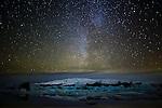 Milky Way, Jökulsárlón, Iceland