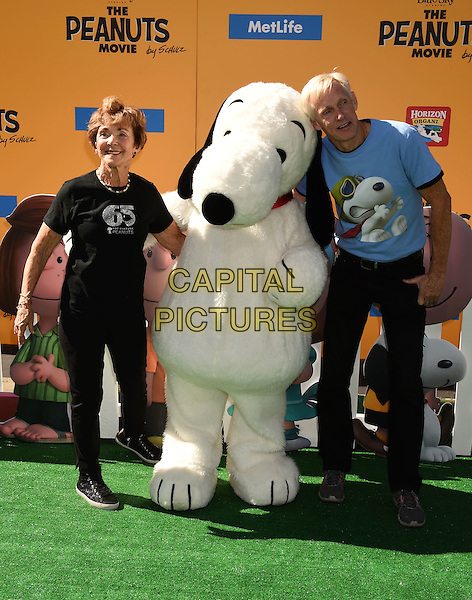 WESTWOOD, CA - NOVEMBER 01: Jeanne Schultz (L) and Craig Schultz attend the Premiere of 20th Century Fox's 'The Peanuts Movie' at the Regency Village Theatre on November 1, 2015 in Westwood, California.<br /> CAP/ROT<br /> &copy;Lee Roth/Capital Pictures