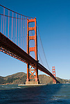 San Francisco, California, Golden Gate Bridge, from South End Visitor Center.   Photo copyright Lee Foster.  Photo # 1-casanf76388.