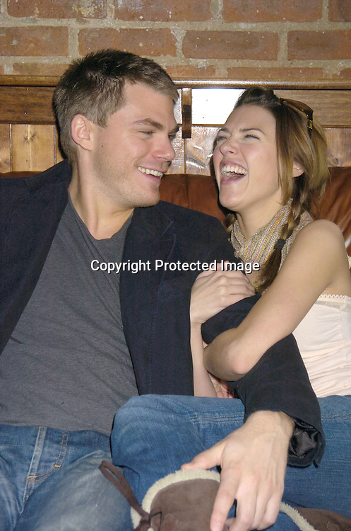 Elizabeth Hendrickson and Jeff Branson of All My Children..at a luncheon at The Town Tavern in New York City on ..January 29, 2005, with a portion of the  proceeds going to..support breast cancer research. ..Photo by Robin Platzer, Twin Images
