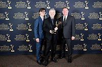 PASADENA - May 5: Michael Conforti, Mal Young, Dave Rupel in the press room at the 46th Daytime Emmy Awards Gala at the Pasadena Civic Center on May 5, 2019 in Pasadena, California