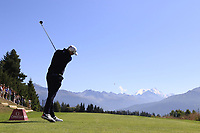 Matthew Southgate (ENG) tees off the 7th tee during Saturday's Round 3 of the 2018 Omega European Masters, held at the Golf Club Crans-Sur-Sierre, Crans Montana, Switzerland. 8th September 2018.<br /> Picture: Eoin Clarke | Golffile<br /> <br /> <br /> All photos usage must carry mandatory copyright credit (&copy; Golffile | Eoin Clarke)