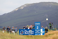 Wade Ormsby (AUS) on the 2nd tee during Round 1 of the Dubai Duty Free Irish Open at Ballyliffin Golf Club, Donegal on Thursday 5th July 2018.<br /> Picture:  Thos Caffrey / Golffile