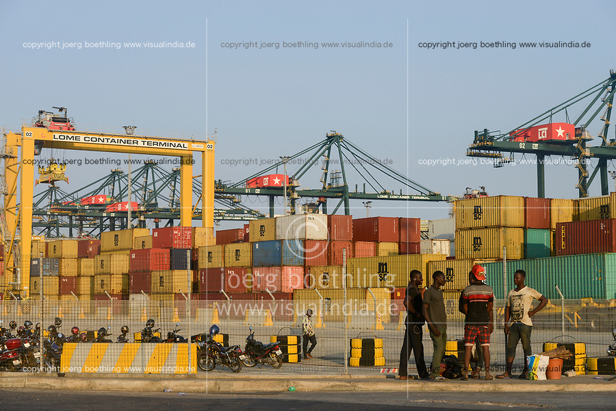 TOGO, Lome, LCT Lome Container Terminal, port