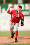 Chattanooga Lookouts starting pitcher Josh Hall delivers the ball to the plate versus the Birmingham Barons at Hoover Metropolitan Stadium in Birmingham, AL, Sunday, August 20, 2006.