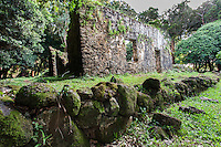 The ancient Summer Palace of King Kamehameha III and Queen Kalama (or Kaniakapupu Ruins), Nu'uanu Valley, O'ahu.