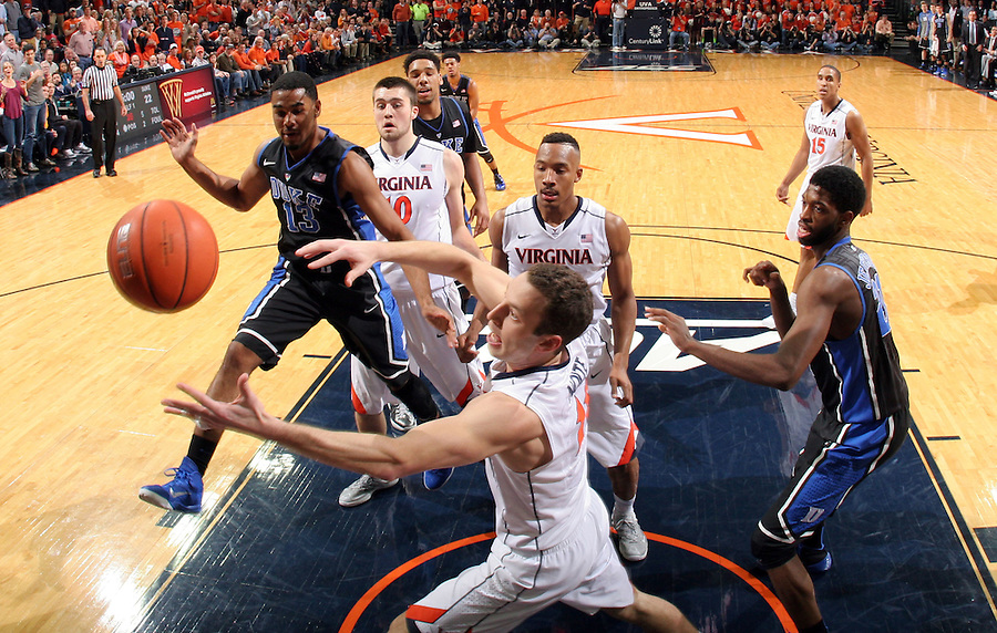 Virginia forward Evan Nolte (11) during an ACC basketball game Jan. 31, 2015 in Charlottesville, VA. Duke won 69-63.